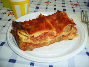 Aunt Filomena's Lasagna at the Mare di Lesina