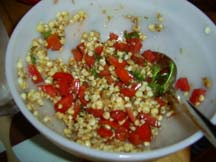 Roasted Corn Salad with Tomatoes and Basil
