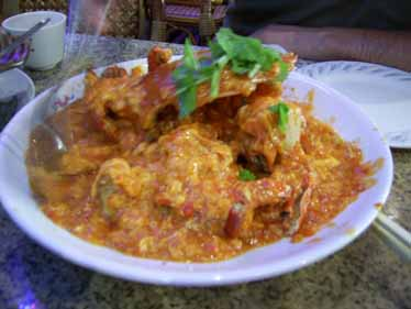 Chili Crab at Long Beach Seafood Restaurant, Singapore