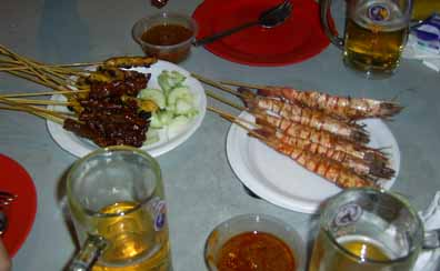 Satay at Lau Pa Sat, Singapore