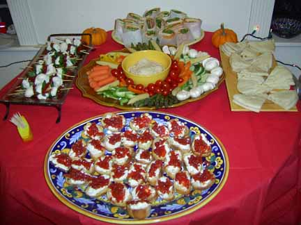 Holiday Table with Appetizers