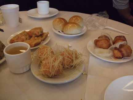 Assorted dumplings at Pacificana Restaurant