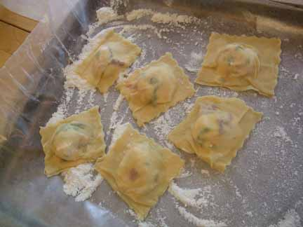 Arugula, Ricotta, and Sun-Dried Tomato Ravioli