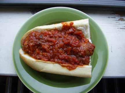 Spicy SausageSandwich