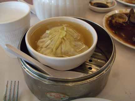 Dumpling Soup at Pacificana Restaurant
