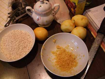 Ingredients for Jamie Oliver's Torta di Riso