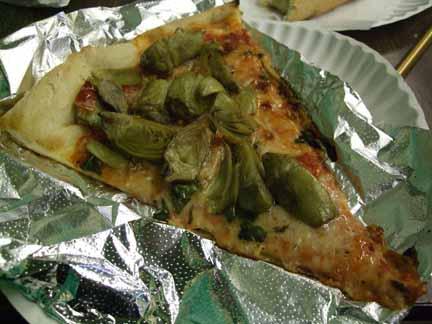 Artichoke Heart Pizza at Di Fara\'s